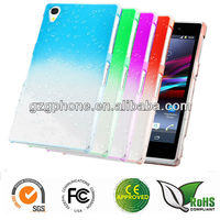Colorful rubber PC back cover for Sony Xperia Z1