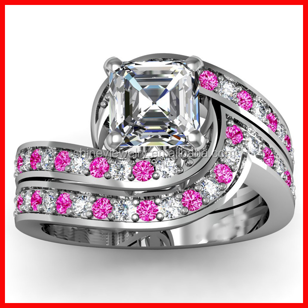 New arrived high quality wholesale cz nice 925 silver ring base