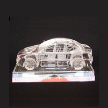 Nice Crystal Glass 3D Car Model With Crystal Base For Crystal Craft