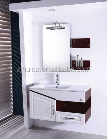 High Quality Wall Mounted Bathroom Sink Vanity Glass Basin Modern Gloss White