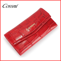 Genuine leather money bag soft leather wallet with multi card slots