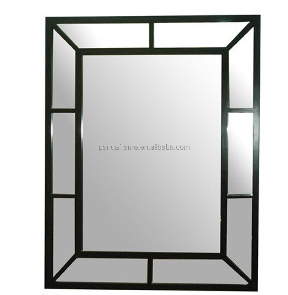 rectangle popular wood photo frame in black finish high quality decorative mirror frame