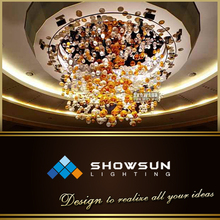 Decorate modern chandelier egyptian multi color crystal chandelier