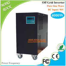 4KW Pure Sine Wave Off Grid Inverter 96VDC-110V/220VAC 50Hz/60Hz City Grid Charge Function Power Frequency Inverter LCD Display