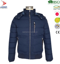 Mens winter padded jacket with fur hood