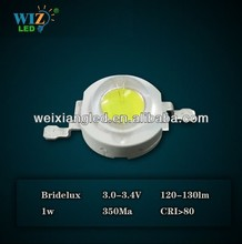 USA Bridgelux led chip high power 1W led & 1 W high power led 120-130lm