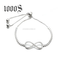 Sterling Silver Infinity Bracelet Wholesale,Fashion Silver Charm Bracelets For Women