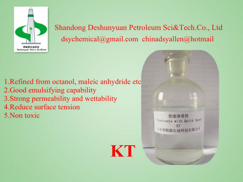 KT Drilling fluid additive Quick Penetrating Agent(Surfactant) for drilling mud chemicals