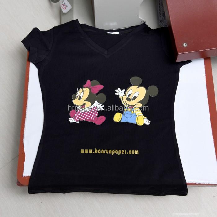 Top high quality inkjet dark t shirt transfer paper iron for Inkjet t shirt printing