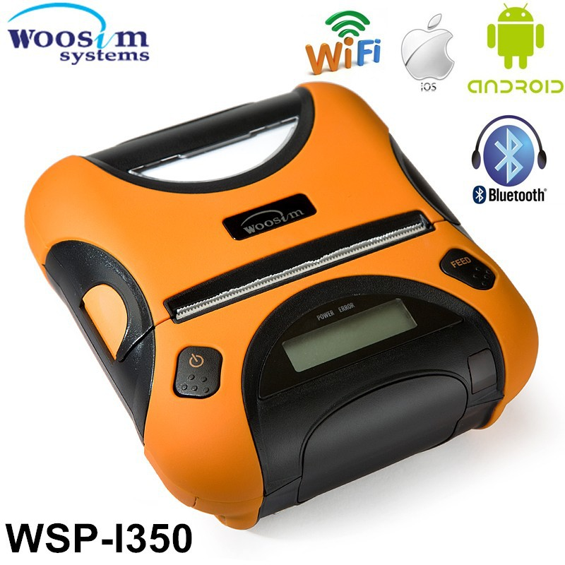 "Woosim 3"" rugged mobile thermal bluetooth receipt printer WSP-I350 support IOS bluetooth for Iphone"
