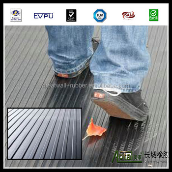 wide ribbed rubber flooring mat anti-slip rubber flooring mat