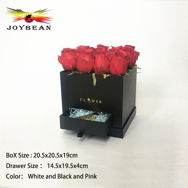 Alibaba China Custom Flower Paper Box Luxury Square Hat Box with lids