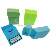Polished Surface Finish and Square Shape silicone case for cigarette