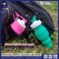 Popular Design Collapsible Water Bottle BPA free Silicone Foldable Water Bottle