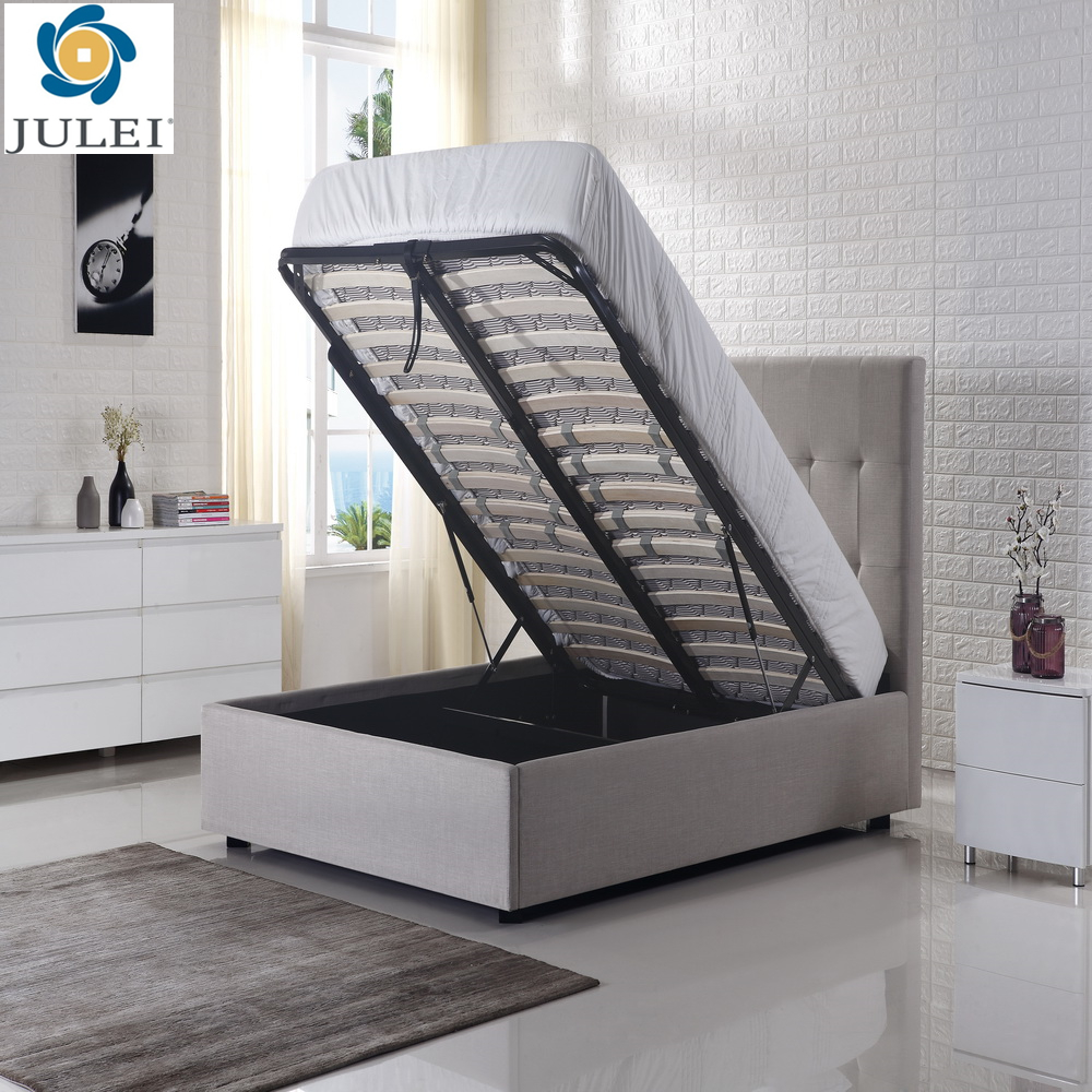 modern popular steel & wooden lift up storage bed base DJ-ALL01