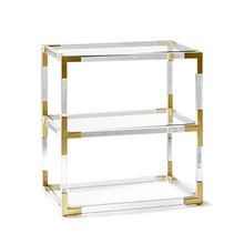 Living Room Clear Perspex Metal Acrylic Side Coffee Table