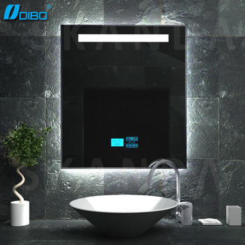 Touch screen bathroom mirror radio