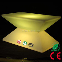 SX-8854-CTB 2016 New Design 16 Colors LED Coffee Table LED Furniture LED Coffee Table with Lithium Battery
