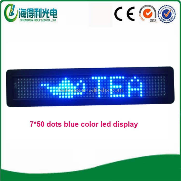 Hidly wholesale 7x80 DC12V red car led message sign