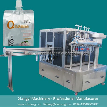 Cheer Pack filling machine / Corner Spouted Pouch filling capping machine / Zipper Spout Pouch filling machines