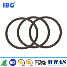 Automotive hard rubber ring seal for concrete pump parts
