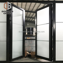 black aluminum commercial insulation tempered glass double swing door 48 inches exterior doors