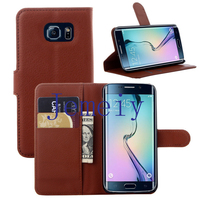 Business Case For Samsung Galaxy S6 edge Stand Flip Leather Case ,Premium Leather Wallet Cover For S6 edge
