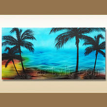 Beautiful seascape metal painting decoration