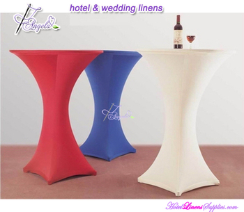 colored spandex cocktail table covers for cocktail tables(dia-76cm) in wedding and party decorations