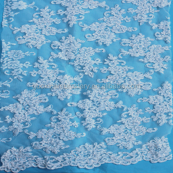 Guangzhou attractive elastic Jacquard lace fabric