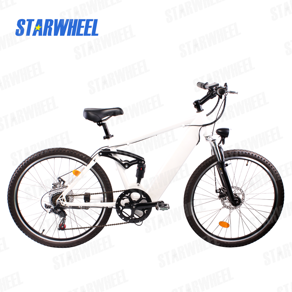 Hot selling mountain electric bike with full suspension