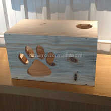 Natural customized shape wooden cat house