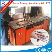 news paper recycling home use velvet pencil making machine