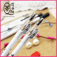 Black color eyeliner waterproof pen with pencil sharpener for eyebrow makeup