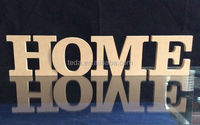 "Laser cut wholesale wood letters/ ""HOME"" wood carving letters,/wood table letters designer"