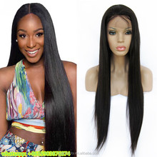 cheap 24 inch malaysian / brazilian / indian virgin remy human hair lace front wigs with baby hair