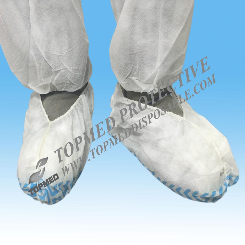 cheap disposable non woven anti slip lab safety hospital