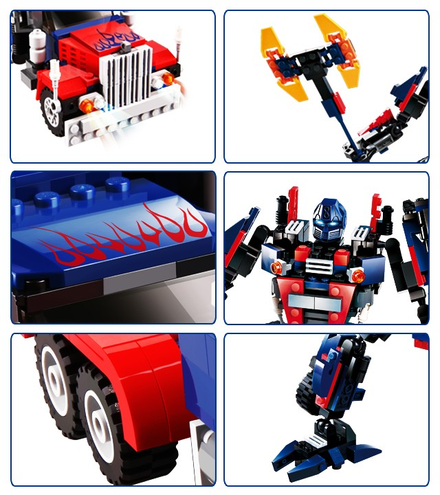 Hot new products for 2016 377 pcs truck robot construction stacking sets