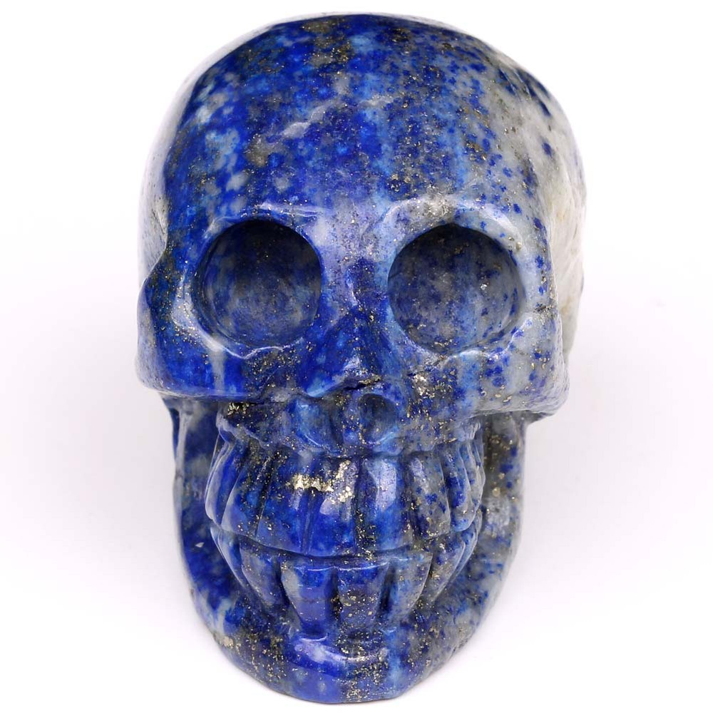 hand carved lapis lazuli crystal skulls, animal skulls carvings, carved skull