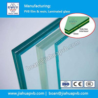 clear PVB interlayer for Bathroom Partition glass