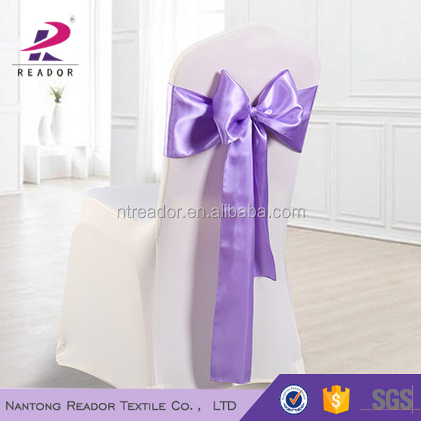 satin wedding chair cover sashes