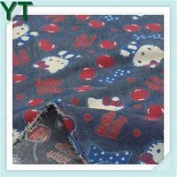 2016 Popular Printed Cotton Denim Fabric low price