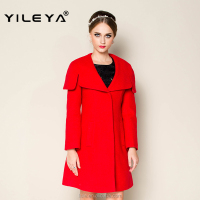 latest nice red girls winter wool fashion coat, ladies long coat design