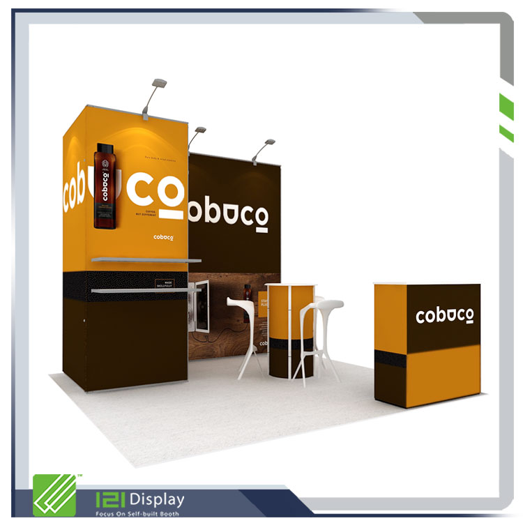 3X3 modular stand booth in aluminum
