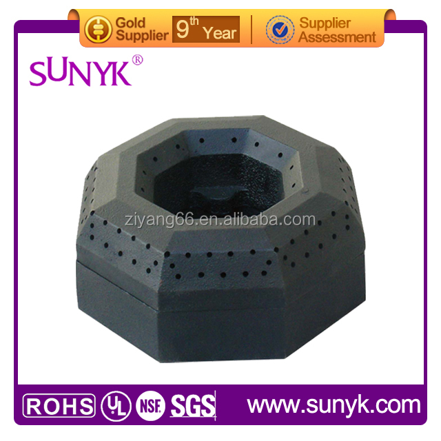 high pressure natural cast iron gas ring burner parts