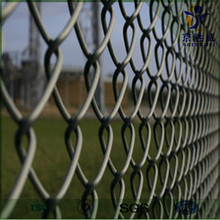 PVC coated & Hot dipped galvanized 6 gauge chain link fence
