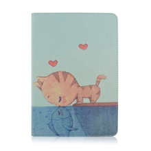 Popular Painted Pattern Design Flip Leather Card Holder Stand Case For iPad4 5 6, flip phone covers