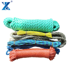 UV resistant 3 inch diameter rope3-strand Polypropylene twisted longline fishing rope 16mm