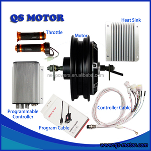 QS 4000W 72V 10inch In-Wheel Hub Motor with Kelly Controller KEB72601 and Throttle For Electric Scooter Conversion Kits