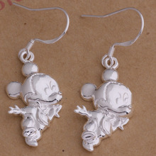 For Mickey Mouse Shaped Earrings Jewelry Dangle Cute
